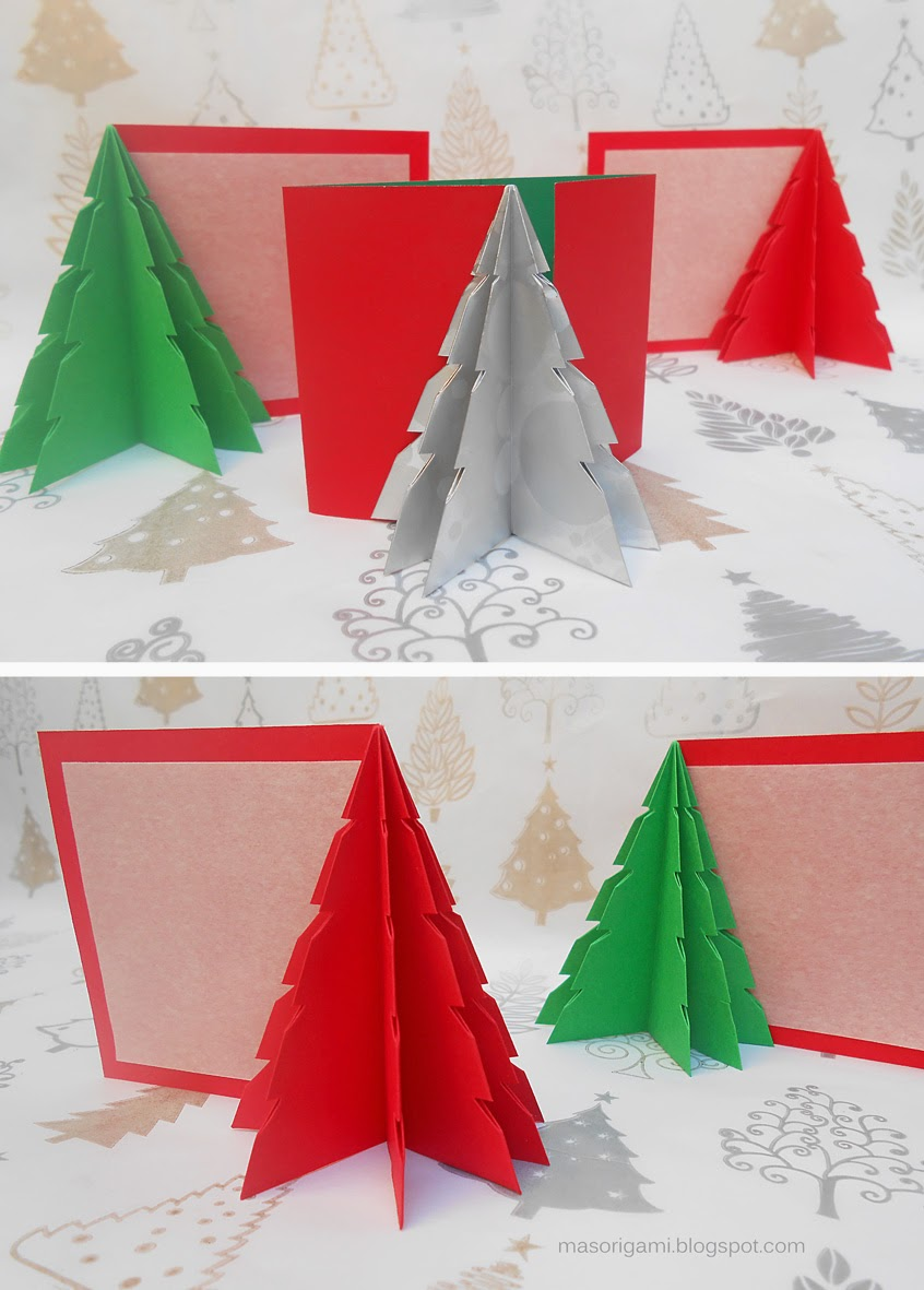 Mas origami tarjetas de origami con los mejores augurios - Como hacer targetas de navidad ...