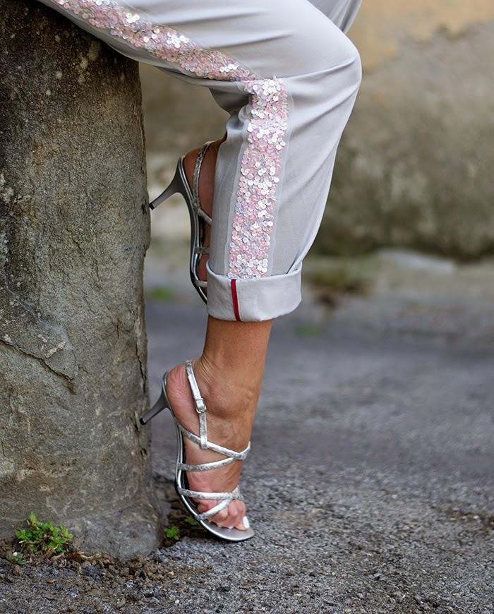 pantalone paillettes