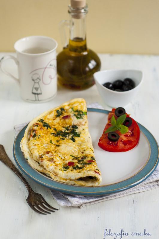 Omlet białkowy z salami
