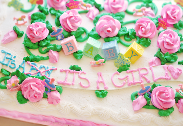 it's a boy, it's a girl baby shower cake