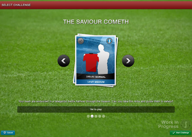 Football Manager 2013 New Feature - Select a challenge - The saviour cometh