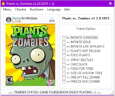 Kumpulan Cheat Plants Vs Zombies Lengkap