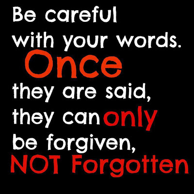 Becareful on Your Words Wall