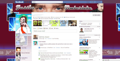 facebook skin layout - theme for facebook with Justin Timberlake