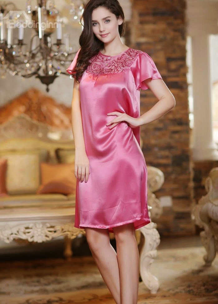 http://www.beddinginn.com/product/Appliqued-Lace-Luxe-Silk-Short-Sleeved-Nightwear-10911065.html