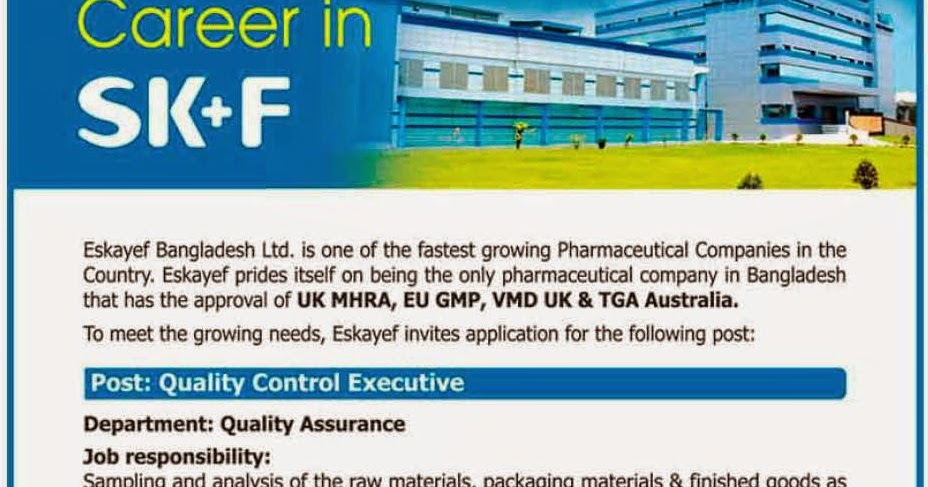 Quality Assurance Executive - Current Pharmaceutical Jobs