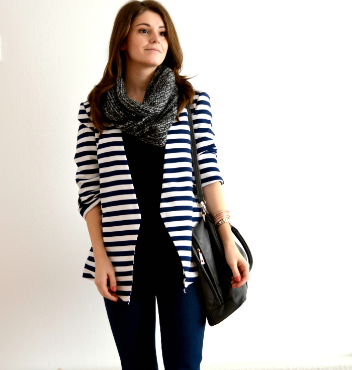 striped blazer outfit ideas
