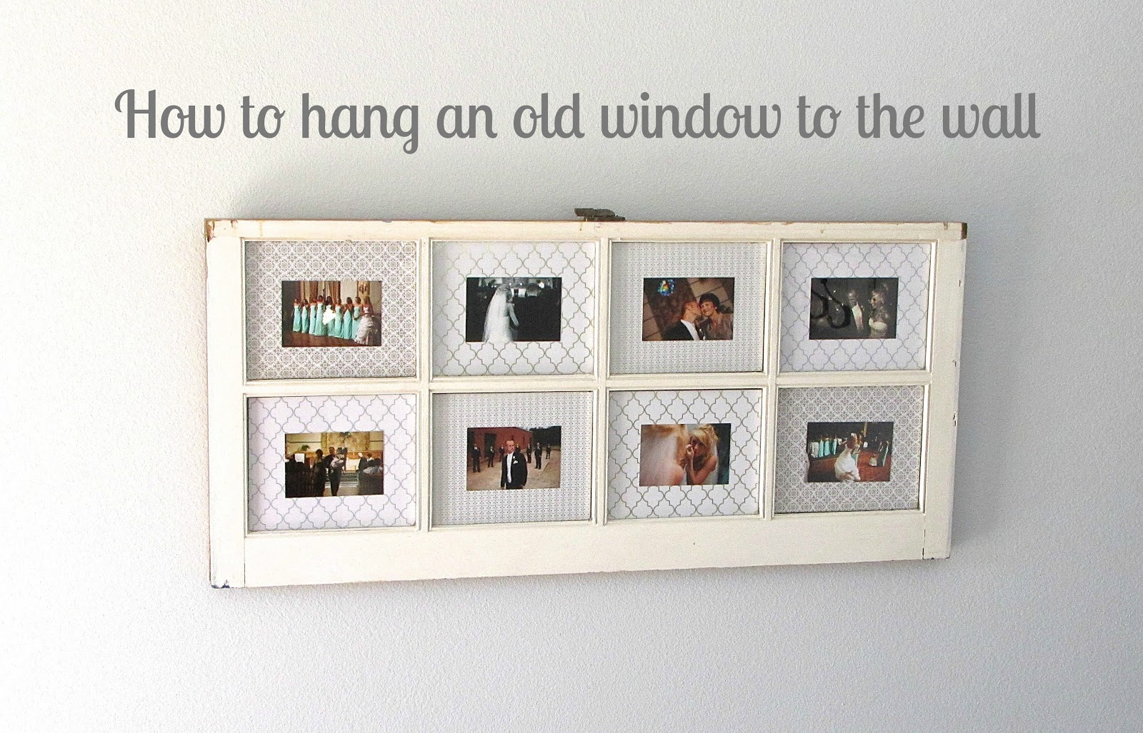 The Modest Homestead: Old window turned picture frame