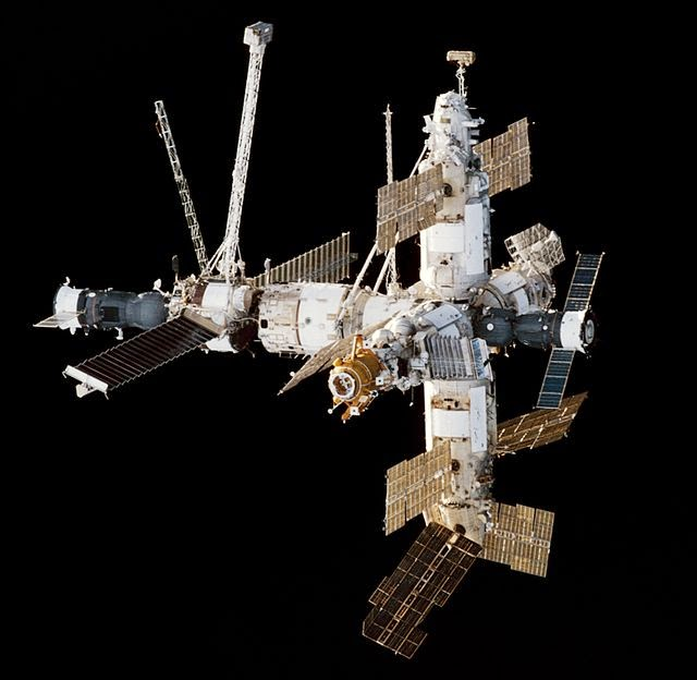 large space station mir diagram-#main