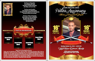 pastor anniversary program template