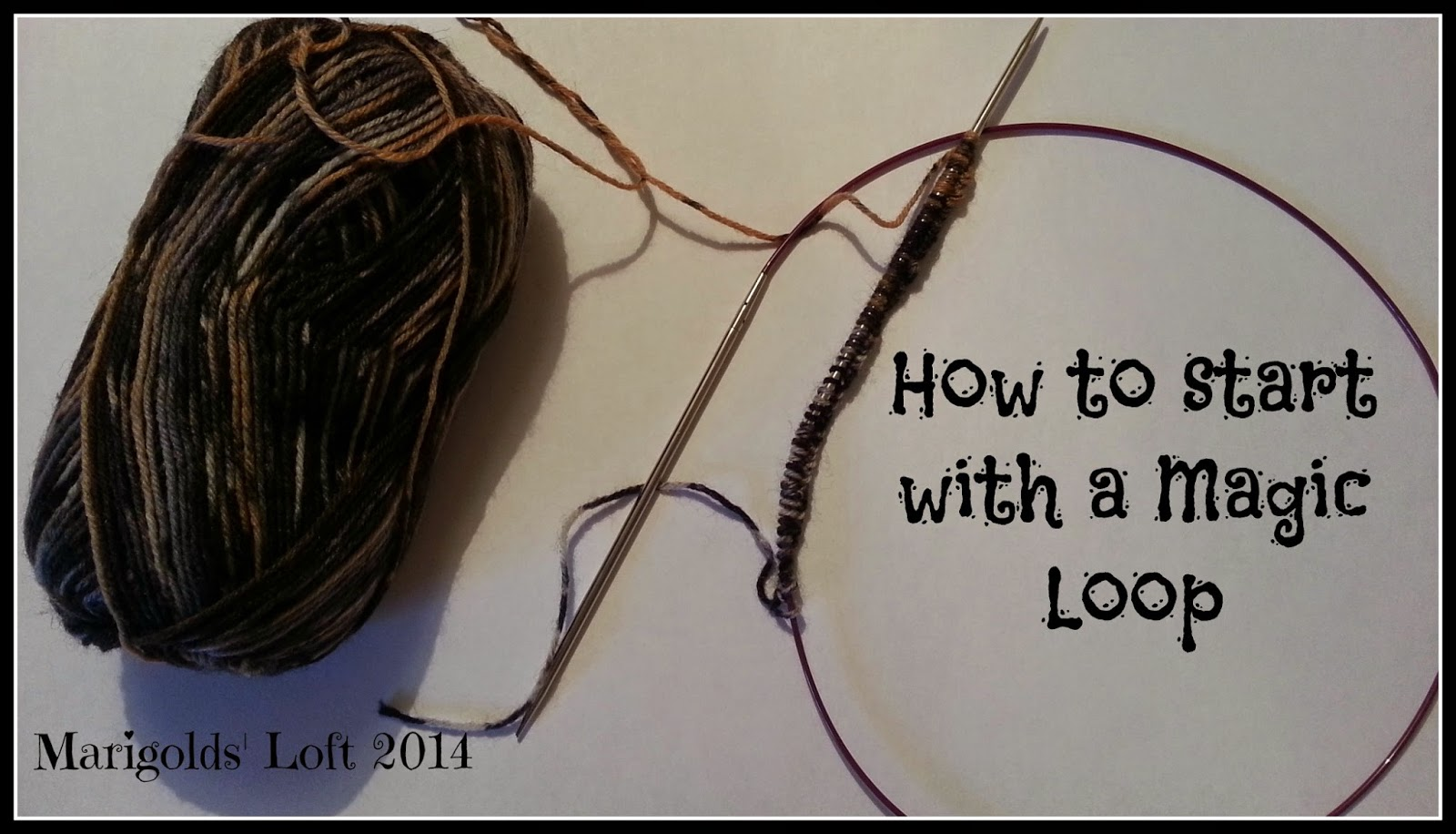 How to knit in a magic loop