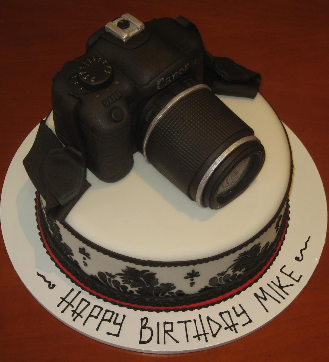 Let Them Eat Cake Canon Camera Cake
