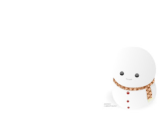 Cute Snowman: Merry Christmas! Love Wallpaper