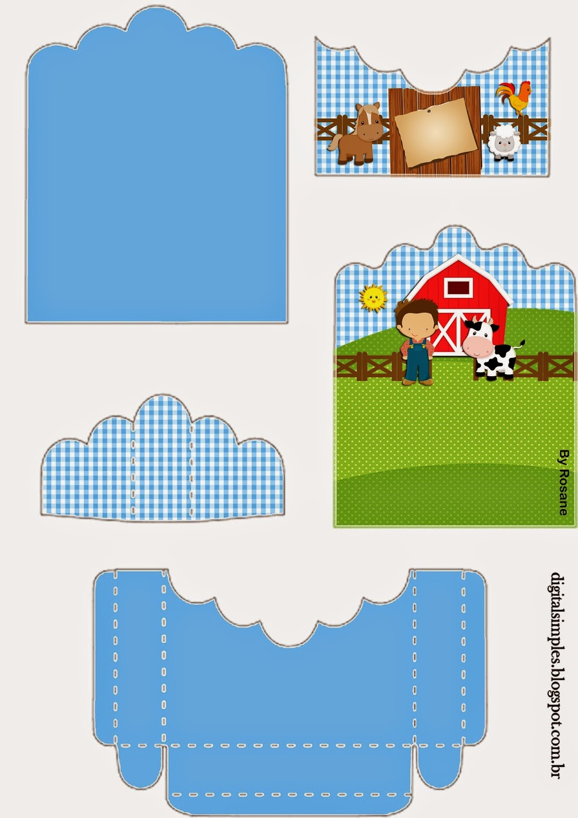 The Farm Party for Boys: Free Printable Candy Package Support.