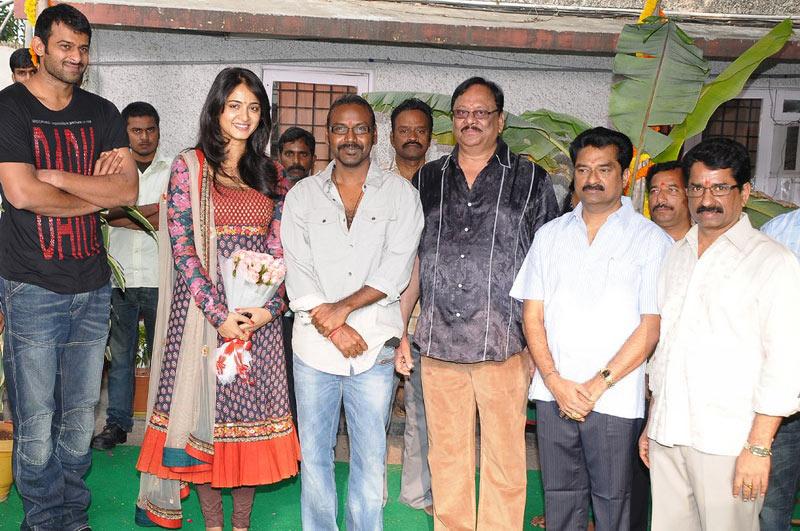 telugu club movie prabhas new movie rebel launching stills