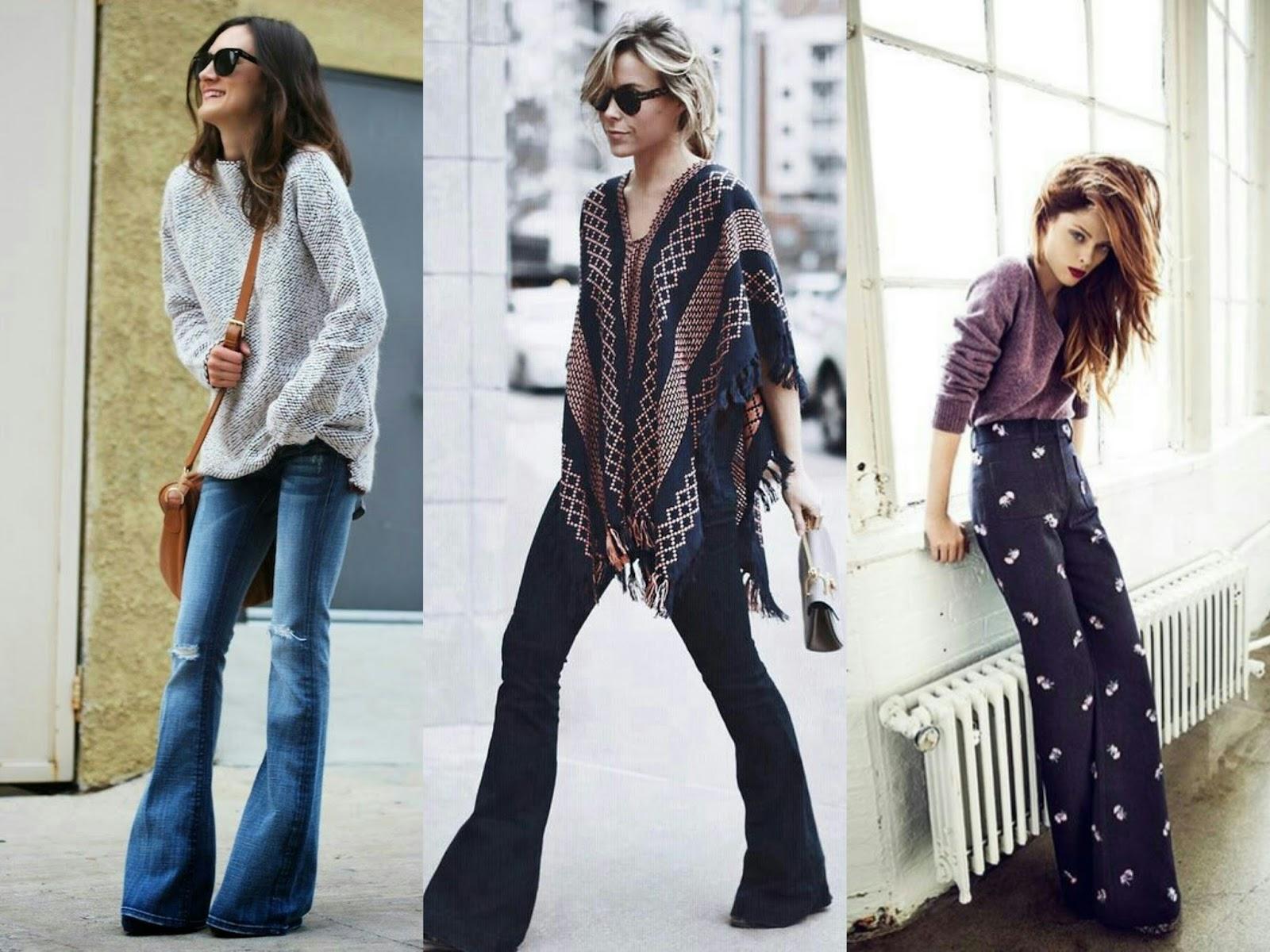 Spodnie jeansy dzwony street style blog