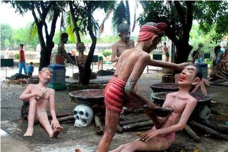 Image result for penjelasan The Wang Saen Suk Hell Garden, Thailand