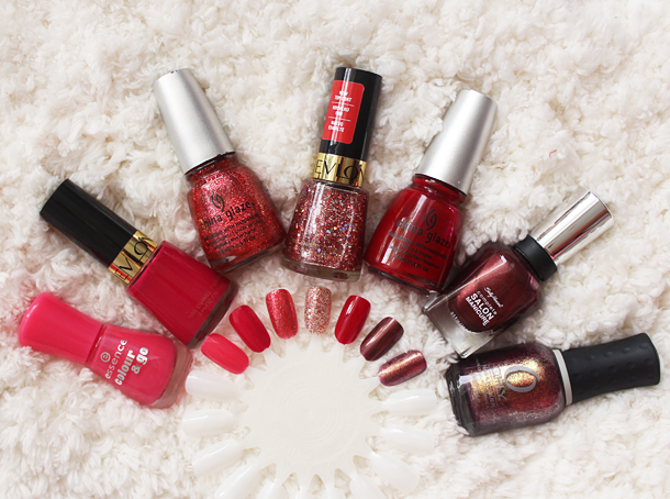 red holiday nail polish swatch review revlon china glaze orly