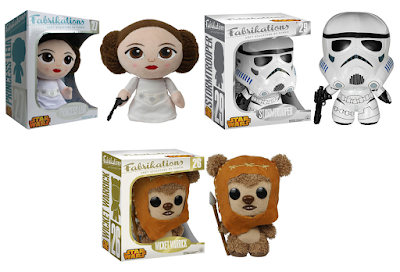 Star Wars Fabrikations Series 2 Plush Figures by Funko - Princess Leia, Wicket the Ewok & Stormtrooper