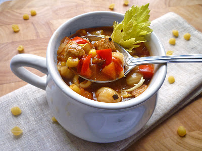 Chicken, Tomato and Pasta Soup