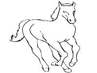 Lembar Mewarnai Gambar Kuda