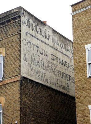 John Hawkin cotton spinners lancashire ghost sign stoke newington london