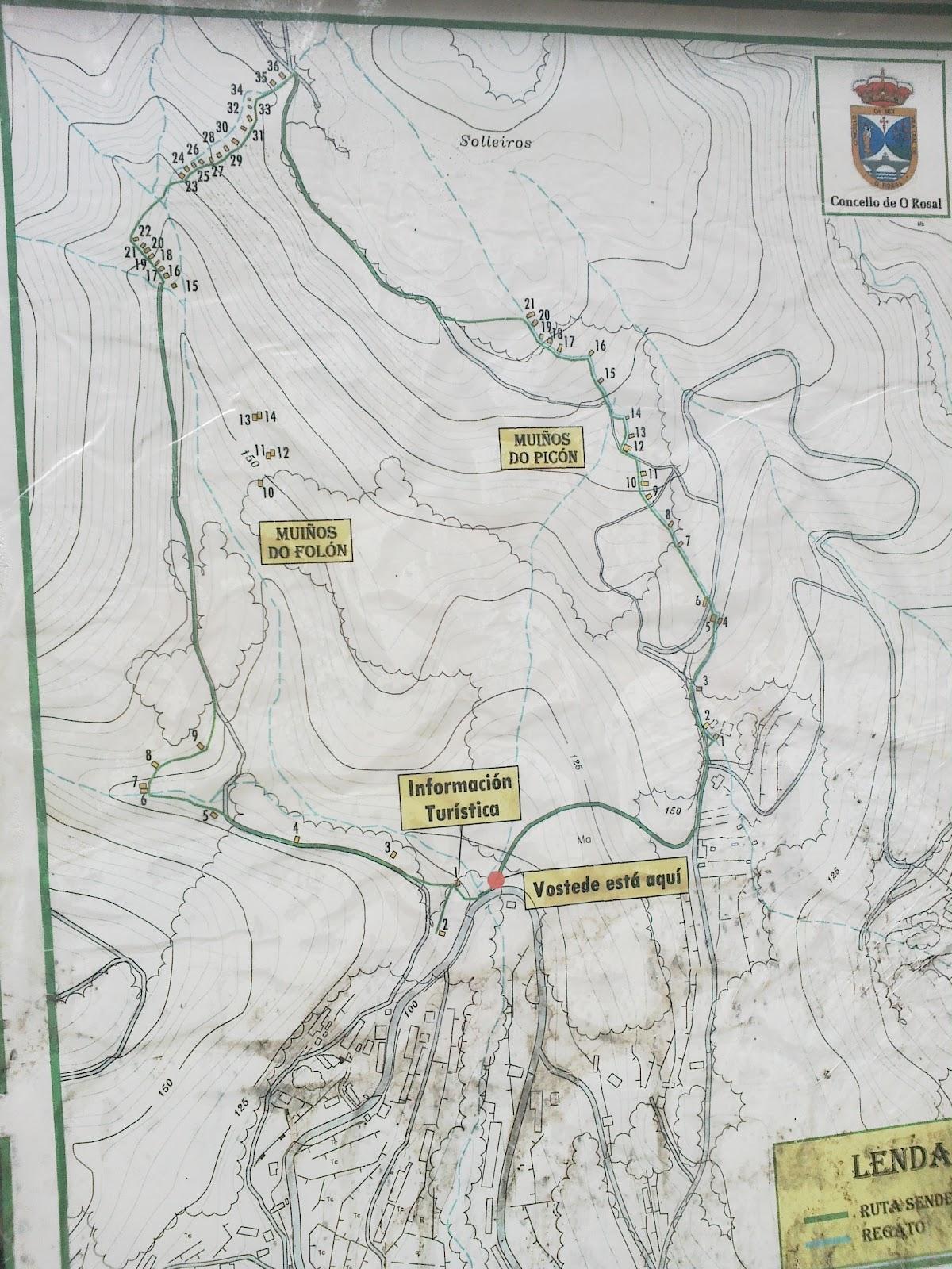 Panel PR-G 94 Ruta dos Muíños do Folón y Picón