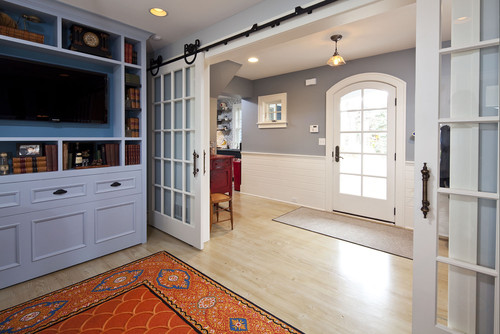 these barn doors allow for a more open floor plan that transform the spaces into separate rooms when closed rolling door hardware