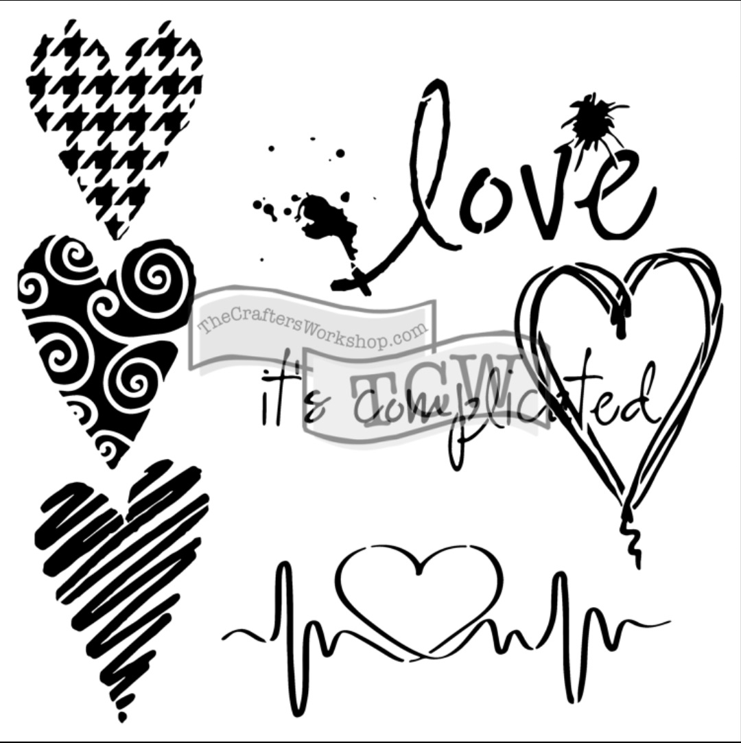 Such a pretty mess sharing another new stencil i designed for Love the design