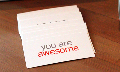 awesome namecard