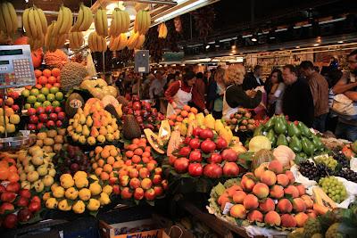 Market of La Boqueria in La Rambla