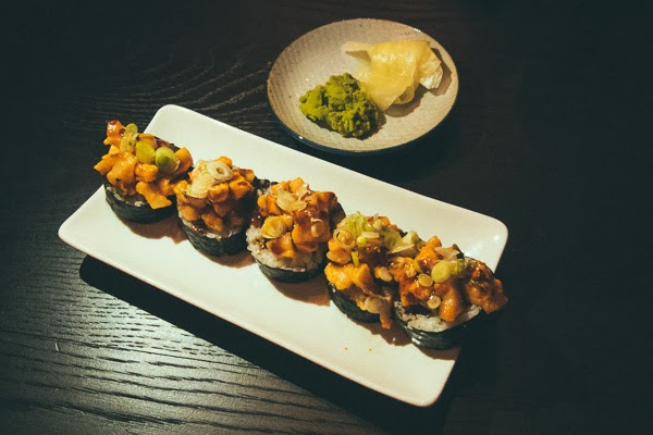 Volcano roll at Two Ten Jack Nashville