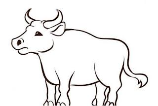 desenho de boi, gado e bovino, ilustração