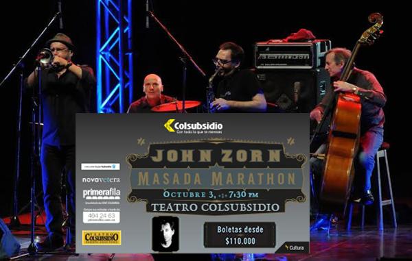 Sábado-3-octubre-Presentación-exclusiva-Jhon-Zorn ́s-Masada-Marathon