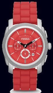 Fossil Machine Chronograph Silicone Watch FS4808
