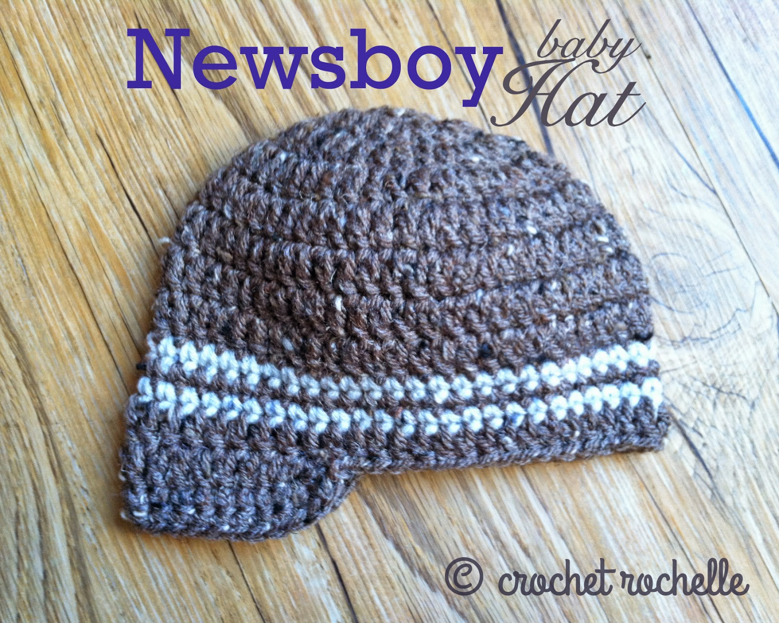 Crochet Baby Hat Pattern Newsboy : Crochet Rochelle: Newsboy Baby Hat Pattern