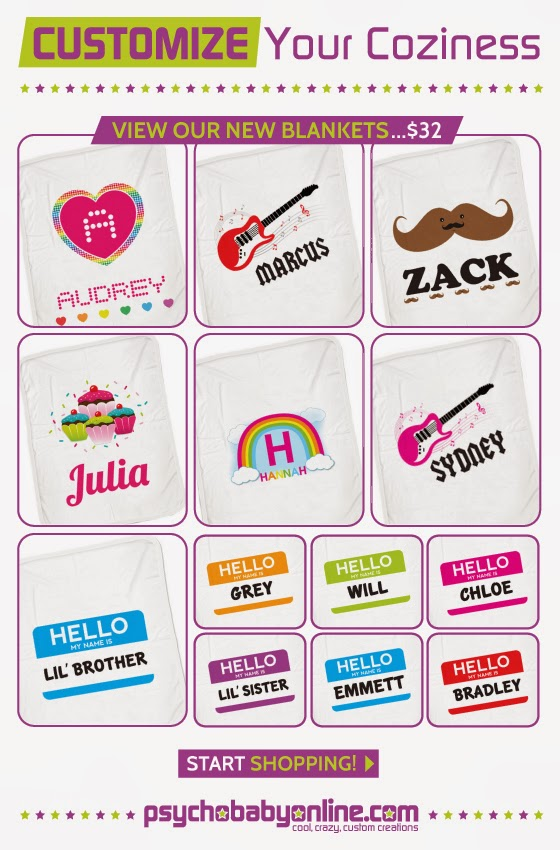Psychobaby Personalized Blankets