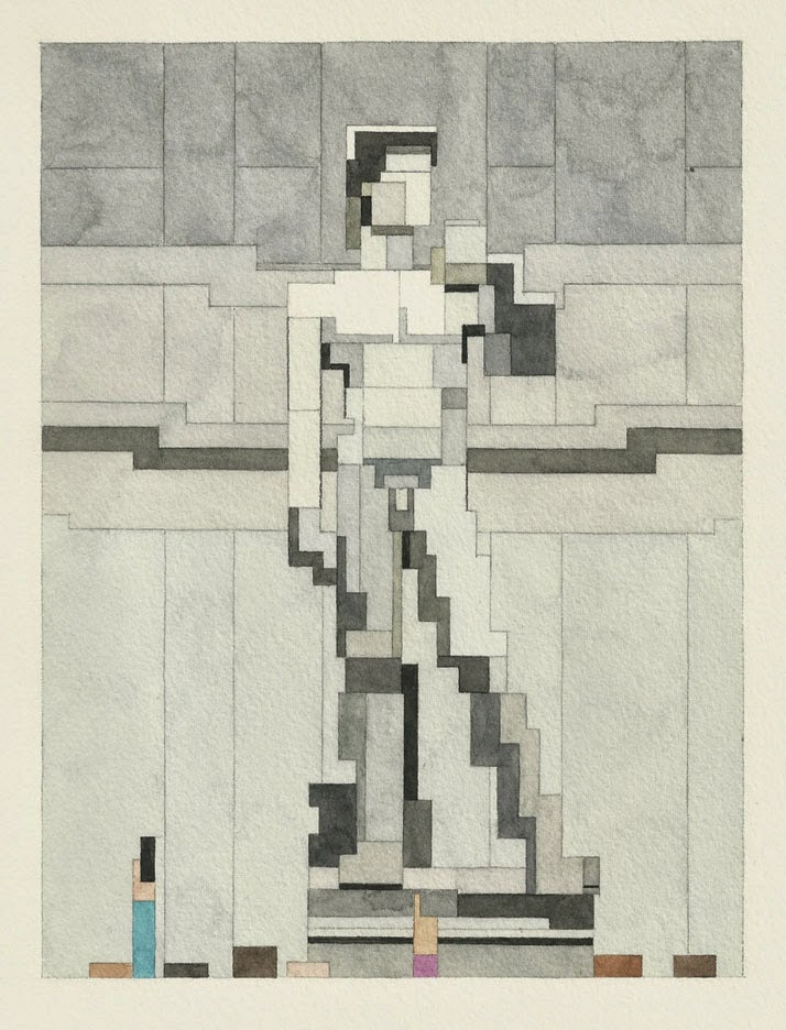 Adam Lister, acuarelas 8 bits, David