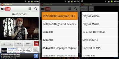 download youtube videos via android
