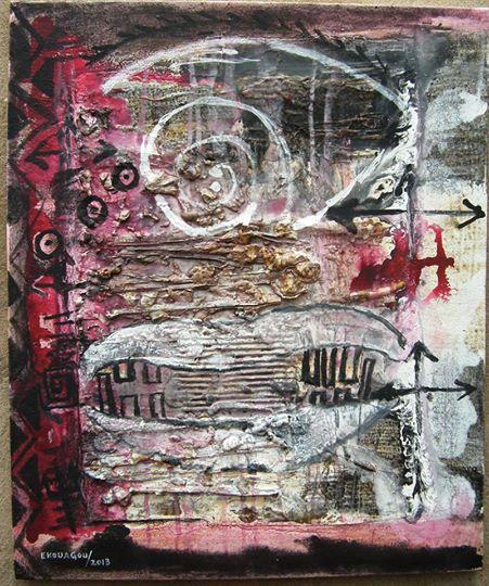 L'UNITE DE MESURE,2013,60x50Cm,acrylic on canvas