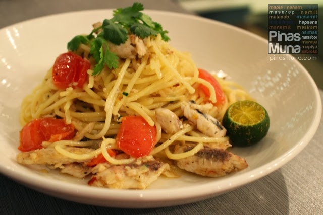 Spicy Tinapa Pasta by Lola Cafe + Bar