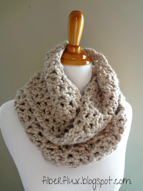 Crochet Shawl Patterns With Bulky Yarn : Fiber Flux: How To Crochet the Pavement Infinity Scarf ...