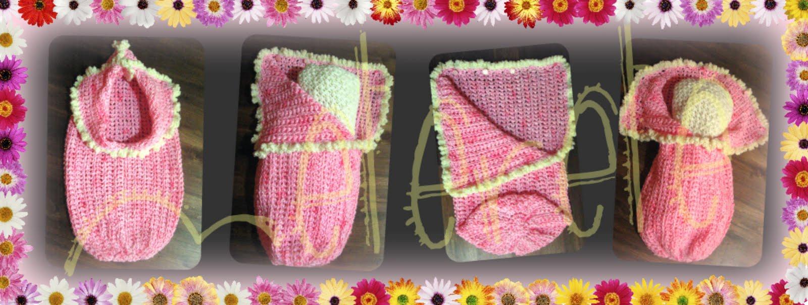 De meterete: Capullito en rosa con guarda crespo