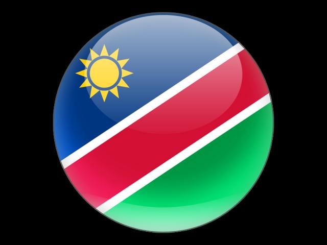 Namibia flag glossy round graphics