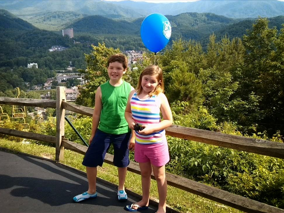 View from Crockett Mountain in Gatlinburg, Tennessee.