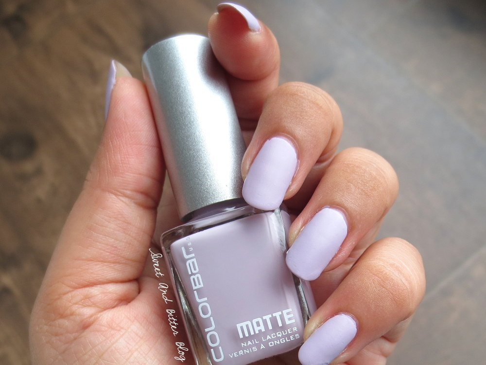 Colorbar Matte Sweet Lilac Nail Polish Swatch