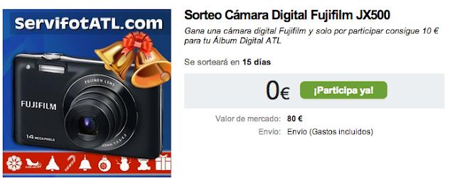 Sorteo Cámara Digital Fujifilm JX500 Gana una cámara digital Fujifilm y solo por participar consigue 10 € para tu Álbum Digital ATL