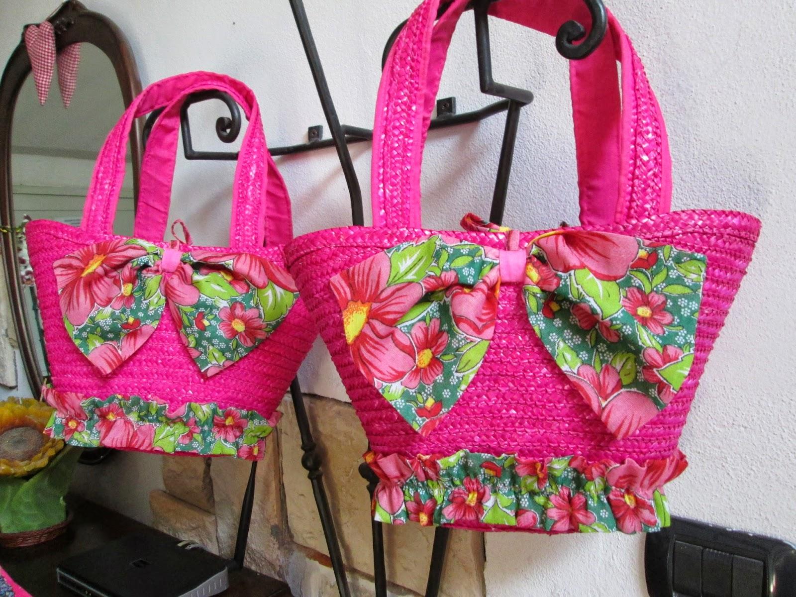 Borse Di Paglia Decorate Alluncinetto : Creazioni con stoffa le borse di paglia decorate