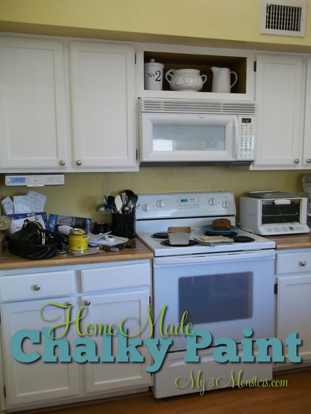 my 3 monsters: kitchen cabinet facelift{part 1}