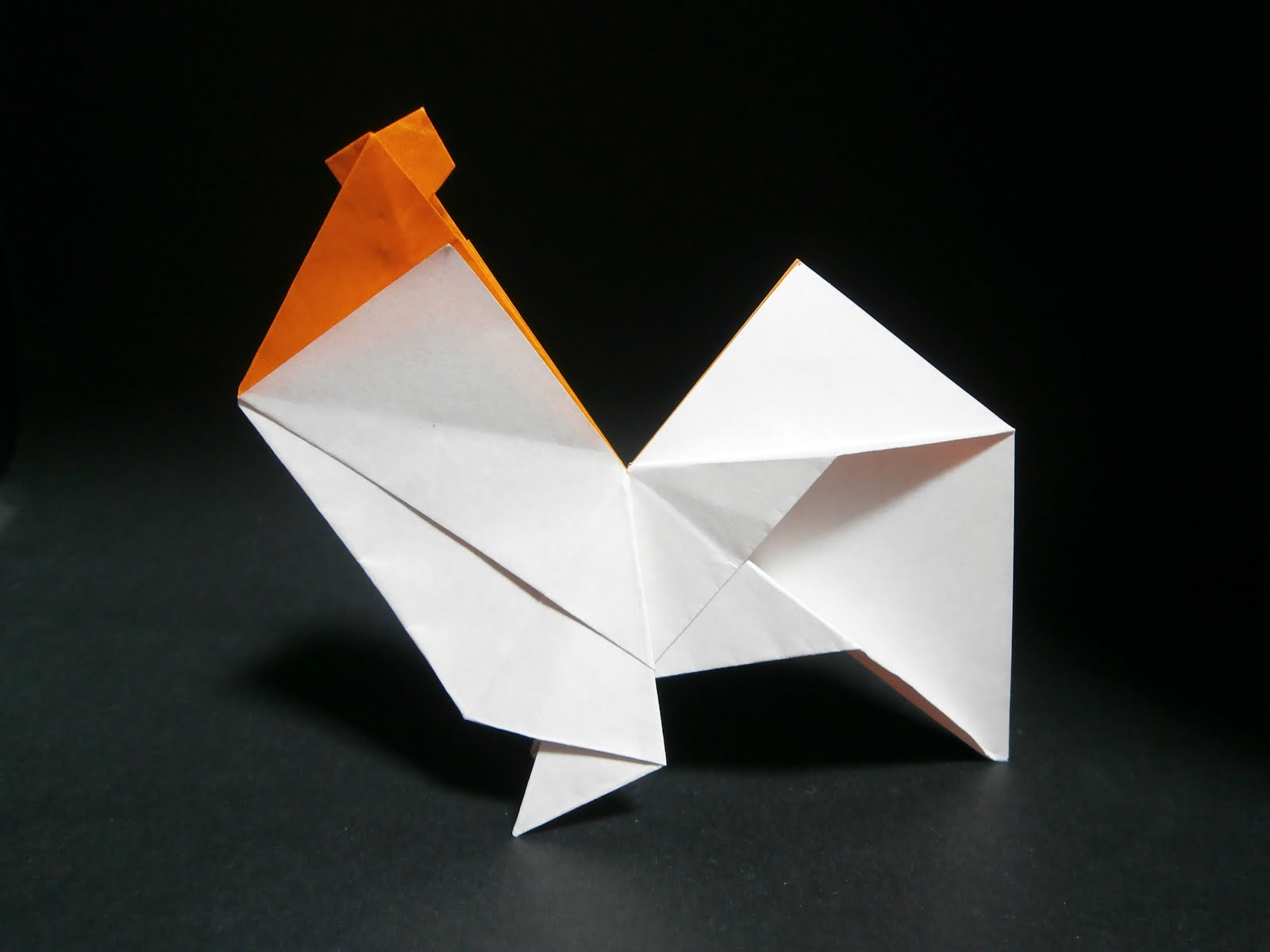 KATAKOTO ORIGAMI Rooster And Pig From Works Of Hideo KOMATSU
